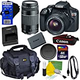 Canon EOS Rebel T6 Digital SLR Camera with EF-S 18-55mm IS II & EF 75-300mm III Zoom Lenses (International Version) + 32GB Accessory Kit w/ HeroFiber Ultra Gentle Cleaning Cloth