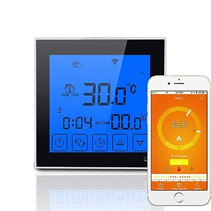 Eleganantamazing WiFi - Termostato de calefacción eléctrico, Pantalla táctil Grande, Mando a Distancia,