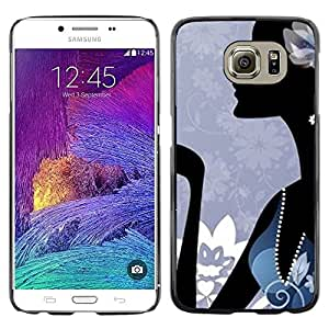 LECELL--Funda protectora / Cubierta / Piel For Samsung Galaxy S6 SM-G920 -- Minimalist Abstract Blue Fashion --