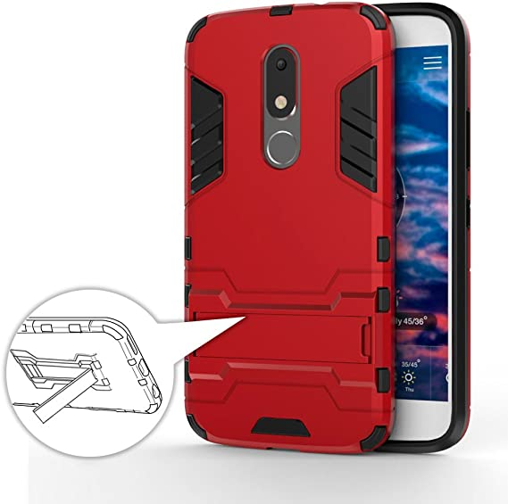 German Tech Cool Shield - Funda híbrida para Motorola Moto M, Color Rojo: Amazon.es: Electrónica