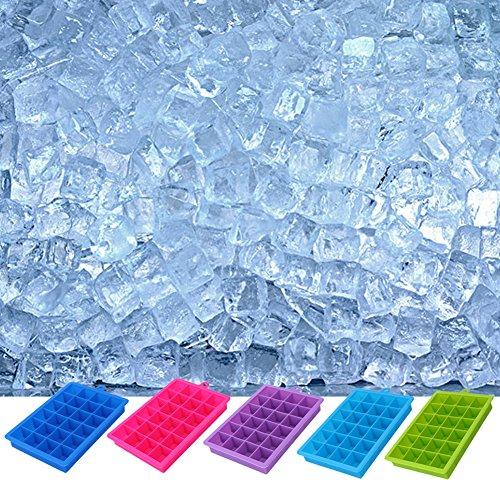 Lucrative shop 24 Grid DIY Big Ice Cube Mold Square Shape Silicone Ice Cube Tray Fruit Ice Cream