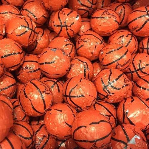 (Chocolate Covered Basketballs - Bulk Chocolate Basketball Candy - 5 Pounds - Approximately 400)