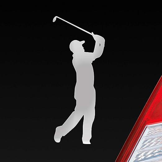 Auto Aufkleber In Deiner Wunschfarbe Golfer Golf Minigolf Sport Wgc Pga 10x4cm Autoaufkleber Sticker Folie Auto