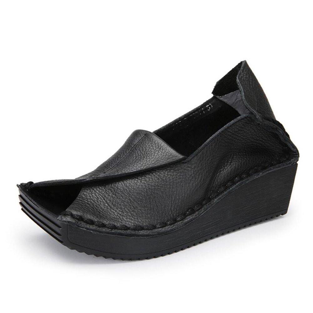 XUE Damenschuhe Leder Fruuml;hjahr/Sommer Loafers  Slip-Ons Fahr Schuhe Persouml;nlichkeit National Style Sandalen/Hausschuhe  Flip-Flops Wanderschuhe Office Breathable (Farbe : B, Grouml;szlig;e : 40)  40 B
