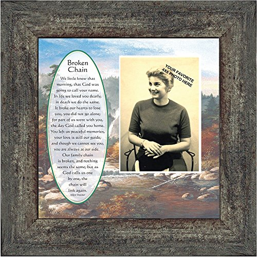 Personally Yours Broken Chain, In Memory of a Loved One, Love You Always Plaque, 10x10 6791BW
