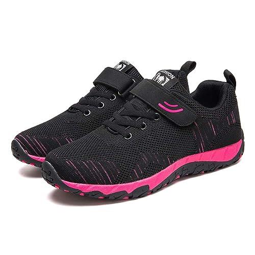 Chaussures de Course Respirant Maille Léger Sport Sneakers, Tennis, Baskets à Enfiler, Chaussures de Sport Femme