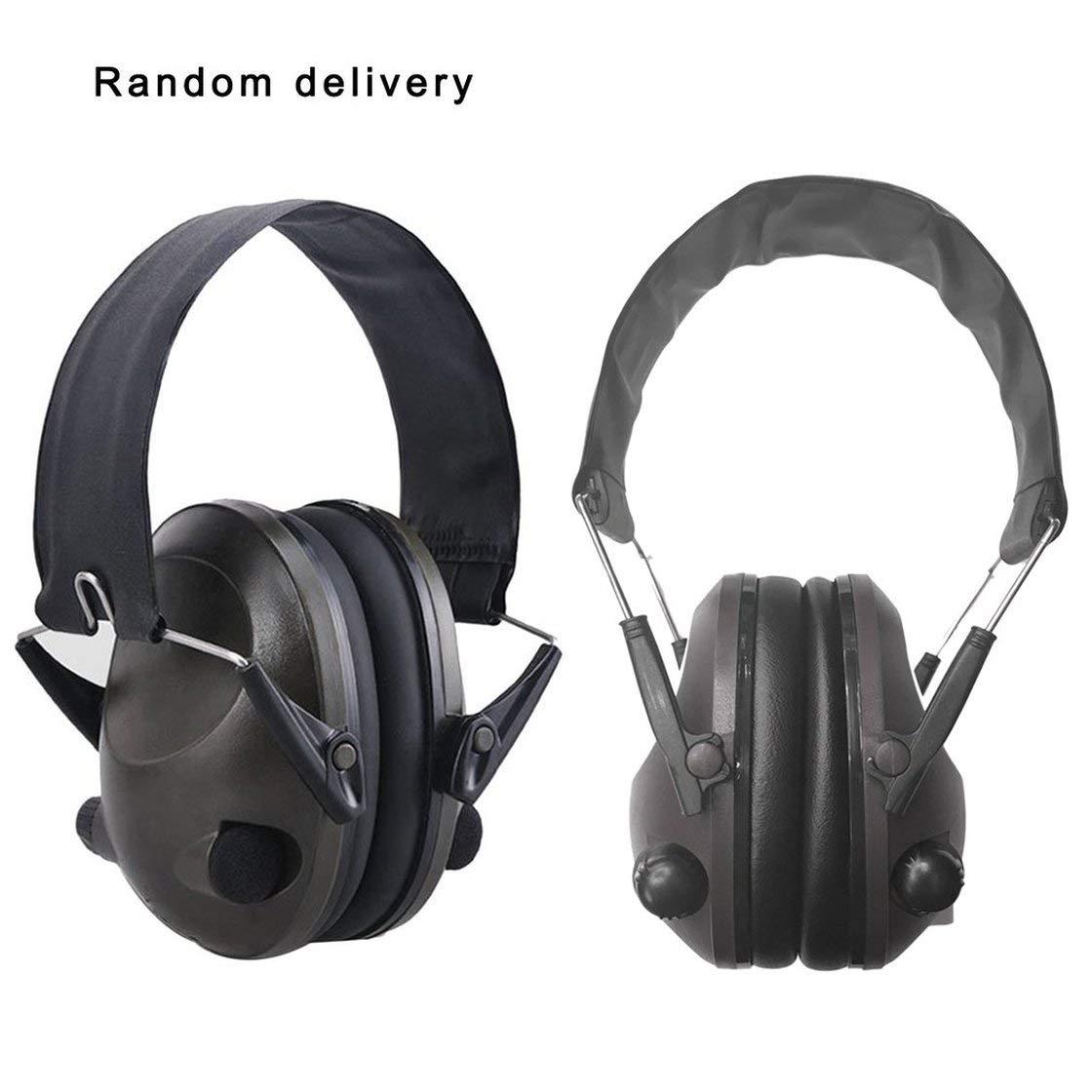 TAC 6S faltbar Design Anti-Verlust, Noise Cancelling Tactical Shooting Headset Soft Padded Electronic Earmuff fü r die sportliche Jagd, schwarz, 1 Hermosairis