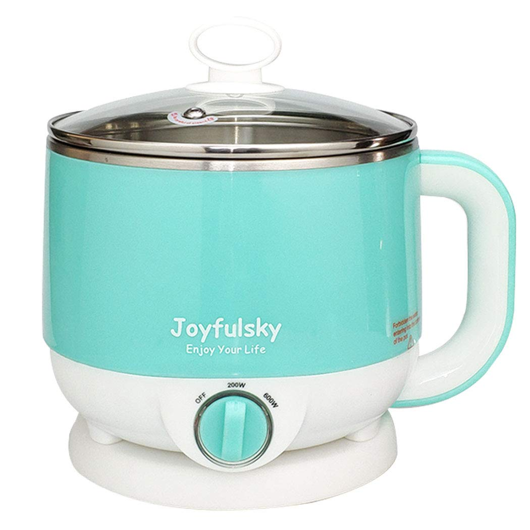 Joyfulsky Electric Hot Pot 1.5L 110V 600W Cook Noodles,Boil Water and Eggs, electric cooker, slow cooker