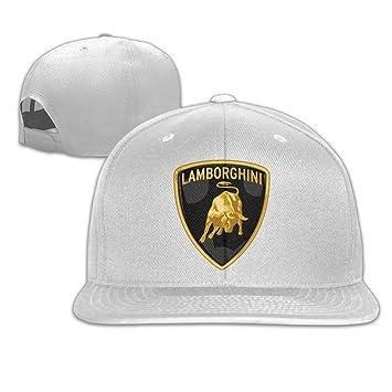 Yhsuk Lamborghini Logo Unisex Fashion Cool Adjustable Snapback Baseball Cap  Hat One Size White  Amazon.co.uk  Sports   Outdoors aad3ad0b2e5