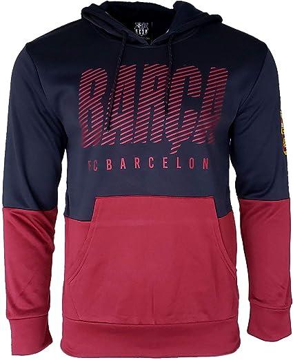FC BARCELONA Official Merchandise by HKY Sportswear Men/'s Fleece Pull-Over Hoodie