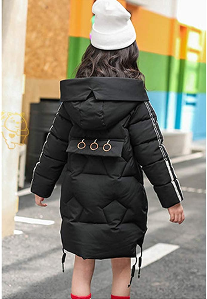 Phorecys Girls Quilted Parka Coats Winter Jacket Windproof Hooded Age of 5-12