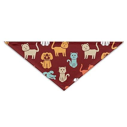 4817bb9f1a Amazon.com : Logic Theory Cartoon Cat Dog Mouse Pattern Pet Scarf Dog Cat  Bandana Collars Triangle Neckerchief : Pet Supplies