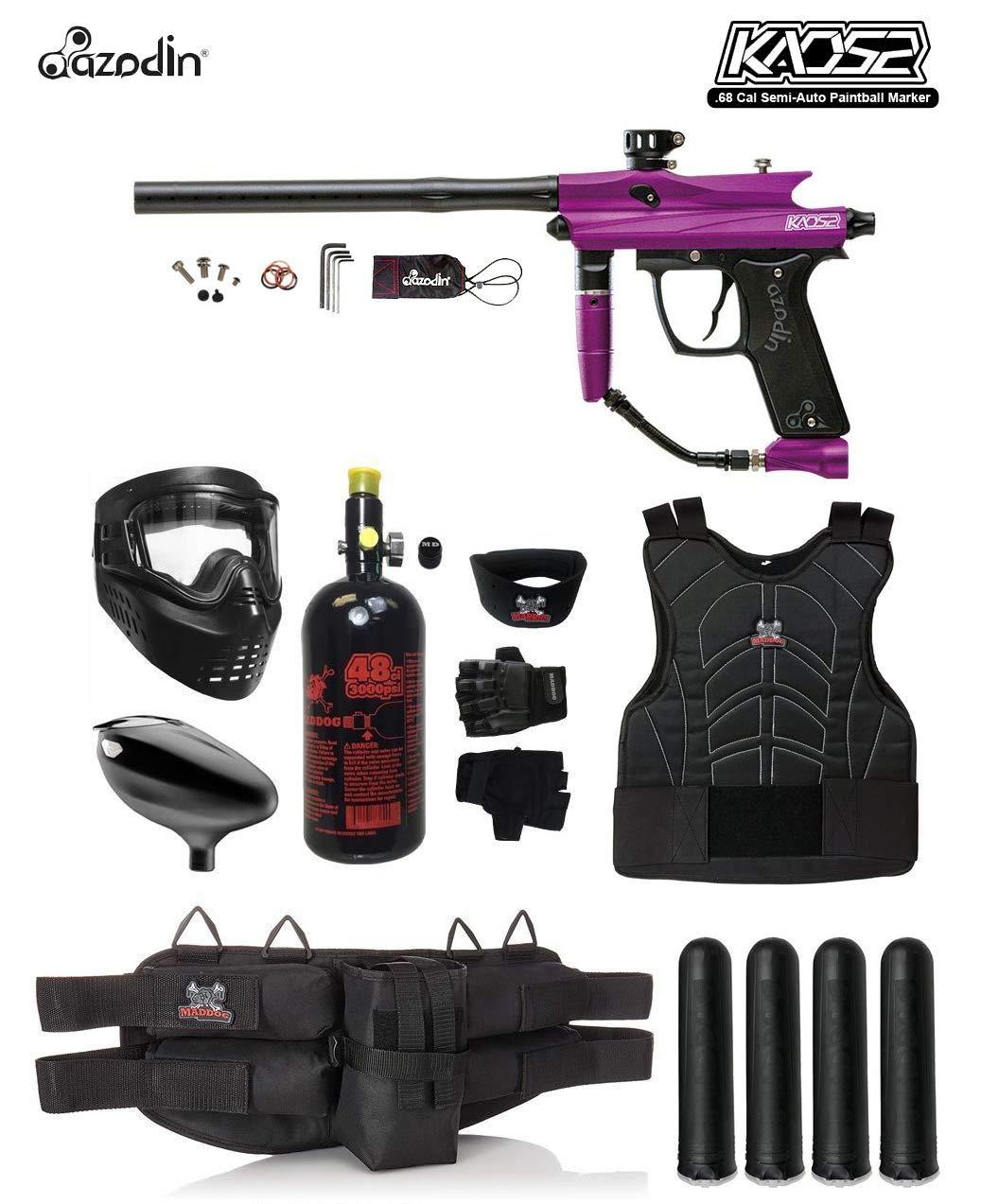 MAddog Azodin KAOS 2 Starter Protective HPA Paintball Gun Package - Purple/Black