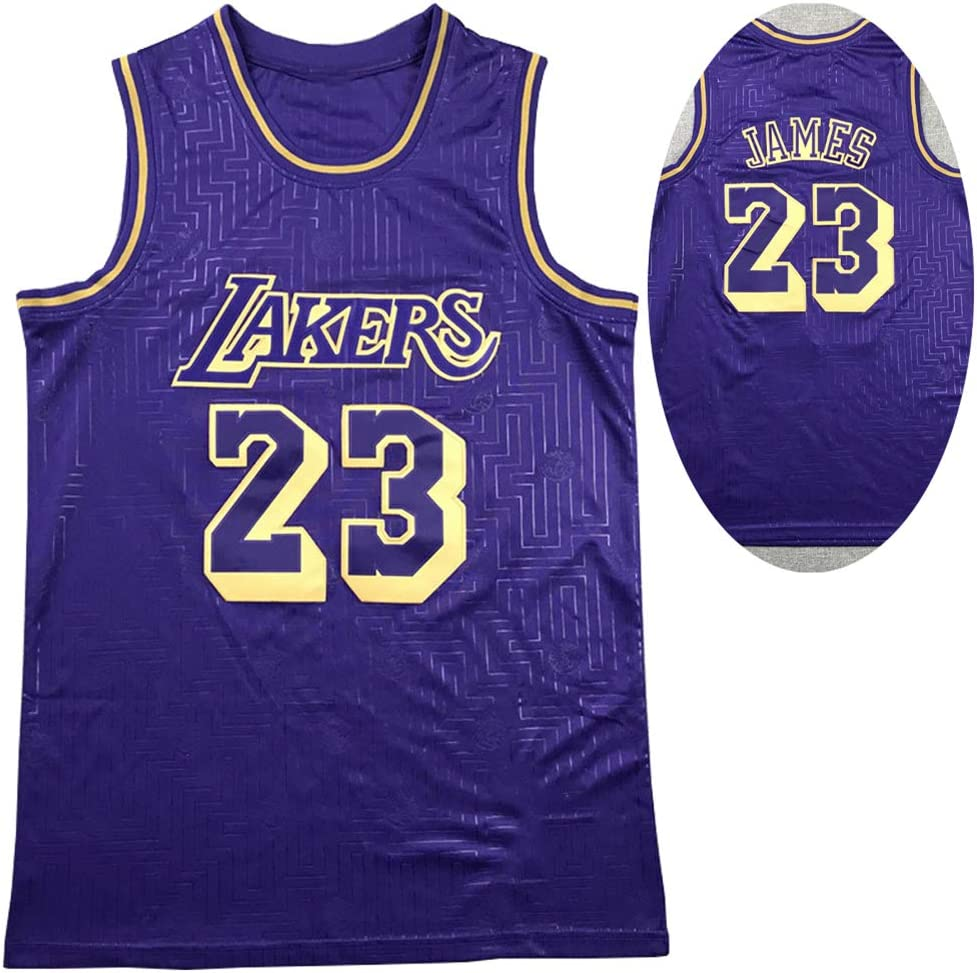 #23 Lebron James Camisetas De Baloncesto Los Angeles Lakers,2020 VersióN Limitada Camiseta De Secado RáPido Transpirable Sombreado Bordado Ropa Deportiva