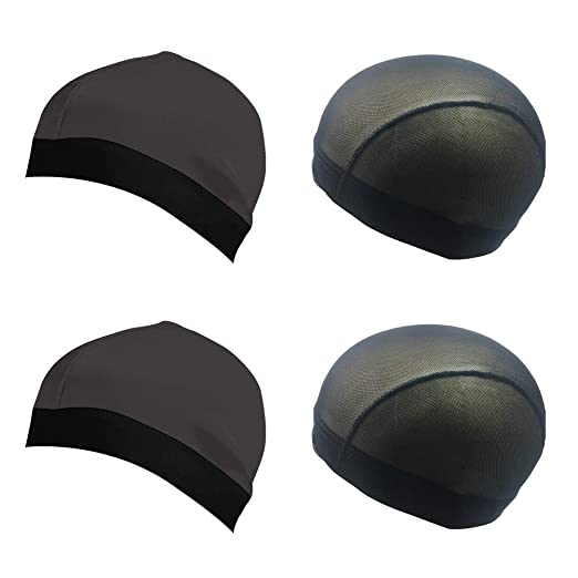 c63f7e340 Silky Stocking Wave Cap,2019 Newest Upgraded Version 4 Pack/6 Pack Shower  Cap Sleep Cap for 360/540/720 Waves Durag