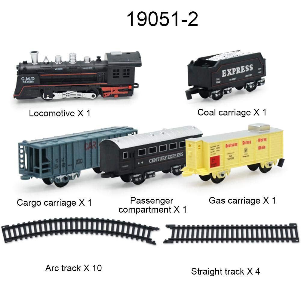 Tren de Electrico con Luces y Sonidos Realistas Modelo de Tren Clásico Simulado Con Pista de Costura de Bricolaje: Amazon.es: Bebé