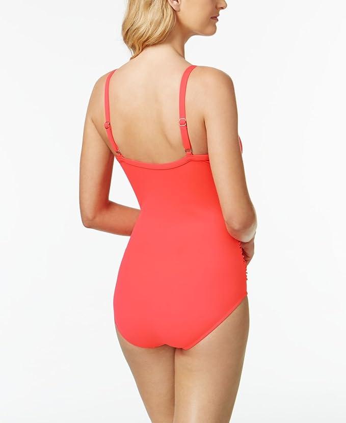 Amazon.com: Swim Soluciones Shirred surplice tummy-control ...