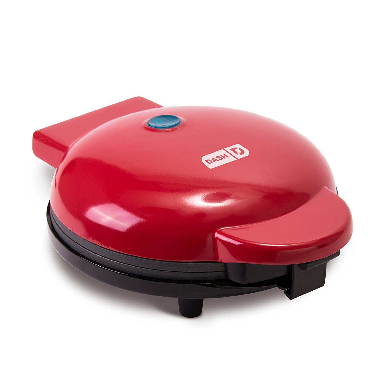 """Dash DEWM8100RD Express 8"""" Waffle Maker Machine for Individual Servings, Paninis, Hash browns + other on the go Breakfast, Lunch, or Snacks with Easy Clean, Non-Stick Sides Red"""