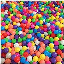 50pcs Color Ocean Ball, 7cm/5.5cm Diameter Colorful Plastic Ocean Fun Balls Baby Kids Pit Balls Tent Swim Pit Toys baby Gift (5.5cm)