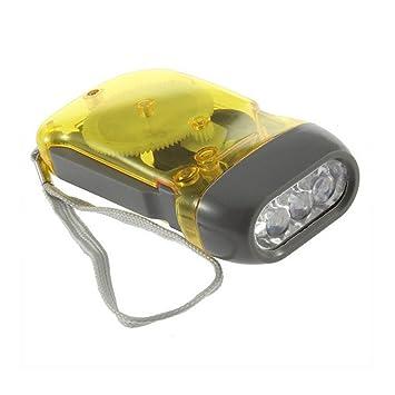 Main Confortable Torche À Pression Manuelle Avec Lampe Smarstar Lumière Écharpe Jaune Led Manivelle Pratique – Camping De 3 Poche pzMVUS