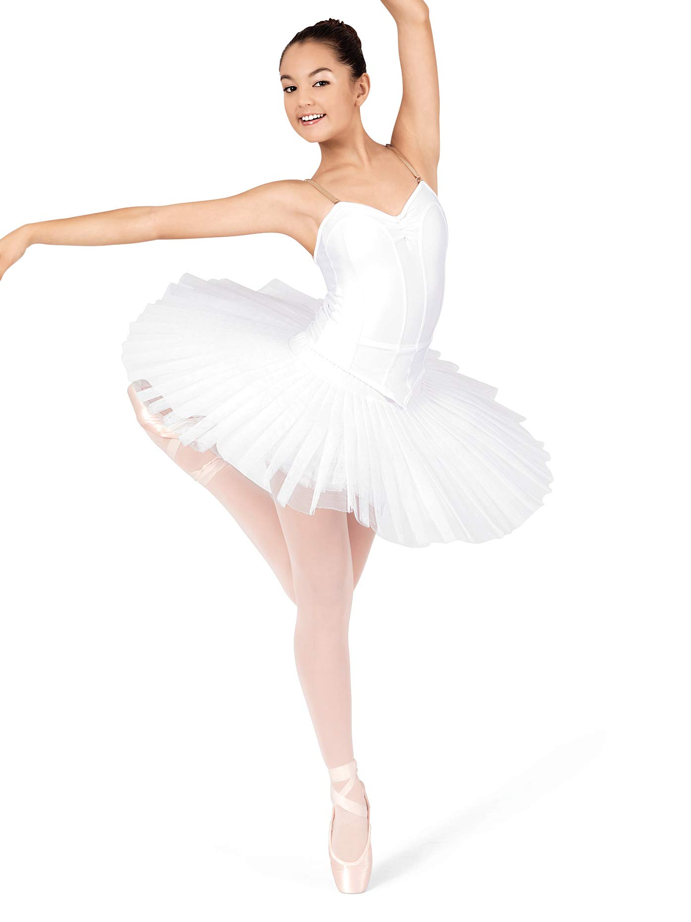 Natalie Dancewear Adult/Child Professional Tutu N5835WHTMLC White MLC by Natalie Dancewear