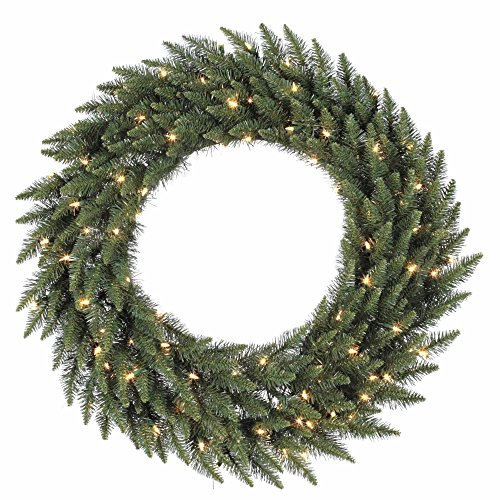Vickerman Pre-lit Camdon Fir Artificial Wreath with 200 Warm White LED Lights, 48 Inch - Pre Lit Camdon Fir Garland