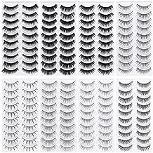 Frcolor 80 Pairs Natural Fake Eyelashes 10-Style Thick Long Eye Lashes for Women Lady Teenager Girls