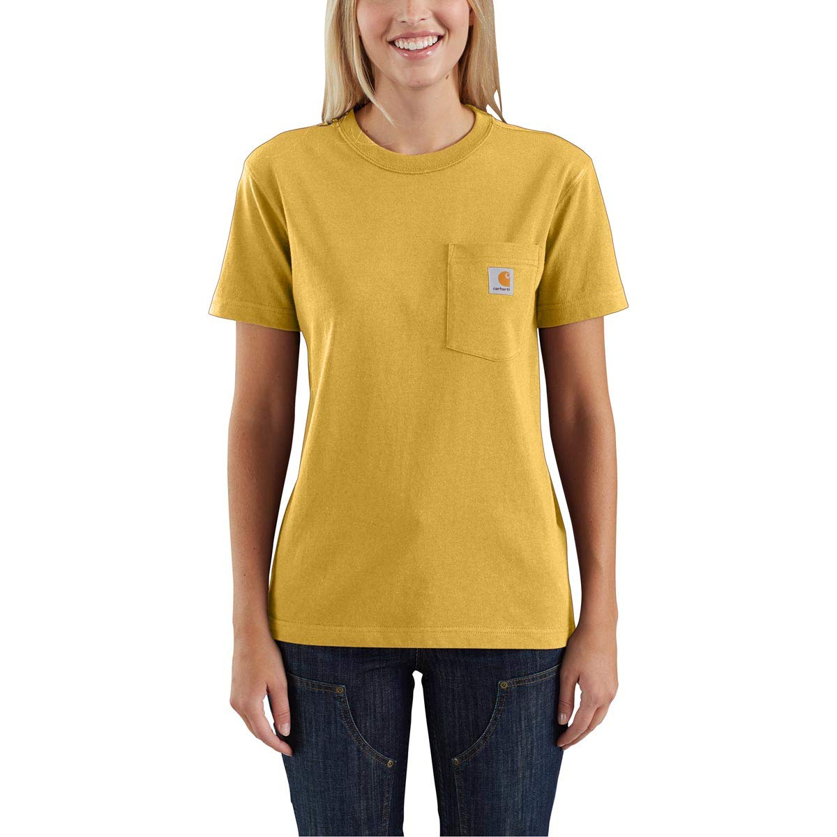 Carhartt Women's 103067 Women's WK87 Workwear Pocket Short Sleeve T-Shirt - X-Large - Carhartt Gold Heather