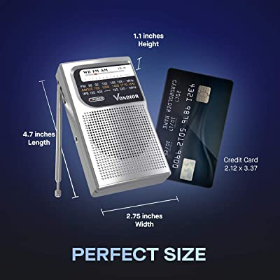 2021 New 2200Mah Rechargeable LI-ION Battery Operated with Flashlight Portable AM FM Radio with Best Reception and Longest Lasting Transistor Headphone Jack NOAA Weather Alert Radio, SOS Alarm