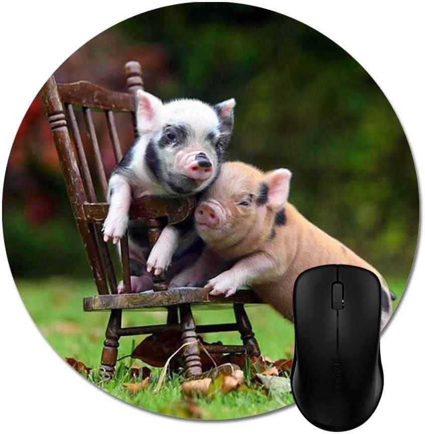 sodnz Mousepad Mini Cerdos + Mini Silla Alfombrillas De Moda Alfombrilla De Ratón Alfombrilla para Juegos Escolares Computadora para Juegos Oficina Impreso Antideslizante Especial Person