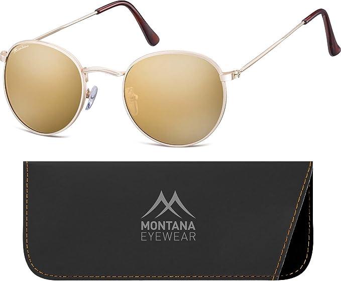Montana MS92, Occhiali da Sole Unisex-Adulto, Multicoloured (Gunmetal/Revo Blue), Taglia unica
