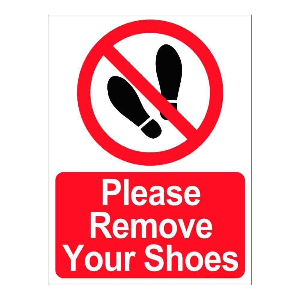 photograph relating to Please Take Off Your Shoes Sign Printable named SignageShop You should take away your Sneakers Indicator Sticker