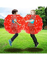 SUNSHINEMALL 2 PC Bumper Balls, Inflatable Body Bubble Ball Sumo Bumper Bopper Toys, Heavy Duty Durable PVC Vinyl Kids Adults Physical Outdoor Active Play(24inch)