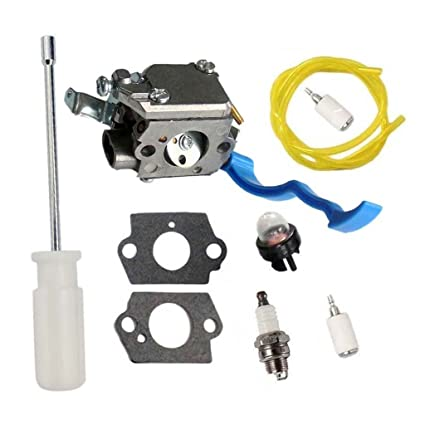 HURI Carburetor with Adjustment Tool Kit Screwdriver Primer Bulb for  Husqvarna 125B 125BX 125BVX ZAMA C1Q-W37 545081811