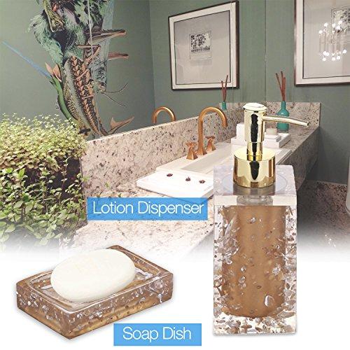 Bronze Bathroom Accessory Set Complete, Gold Bathroom Accessories Chrome  For Bathroom, Powder Room ...