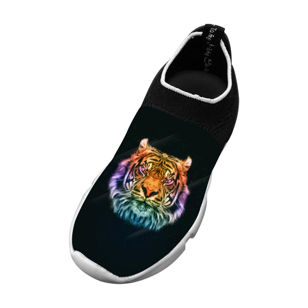 Sports Flywire Knitting Leisure Shoes For Unisex Children,Print Tiger Face,