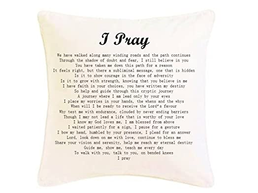 Personalised prayer poem faux silk cushion gift i pray suitable personalised prayer poem faux silk cushion gift i pray suitable for any occasion negle Gallery