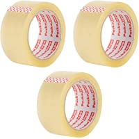 3 Rolls Packatape 48MM x 66M Clear Packaging Tape for Parcels and Boxes. This Heavy Duty Clear Packing Tape Provides a Strong, Secure and Sticky Seal for Your Boxes. by Packatape
