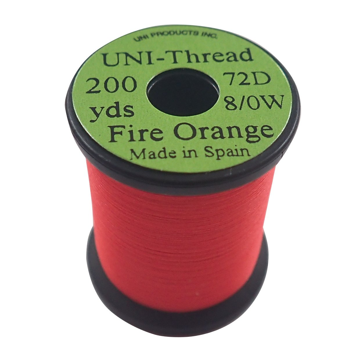 ONE SPOOL Fire Orange 8//0 Uni Waxed Thread