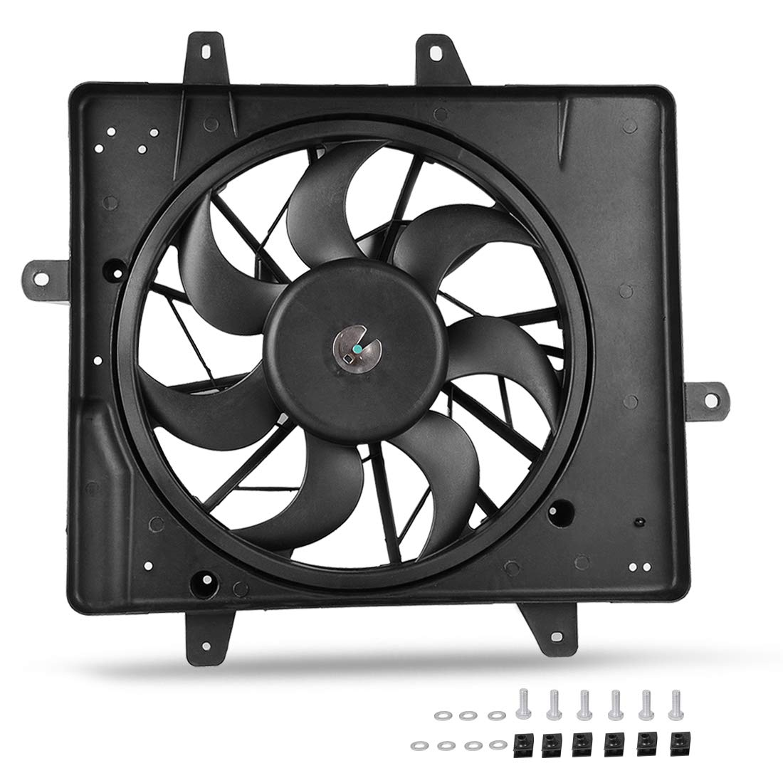 Radiator Condenser Cooling Fan Assembly For 2001-2008 Chrysler PT Cruiser ATRDF016