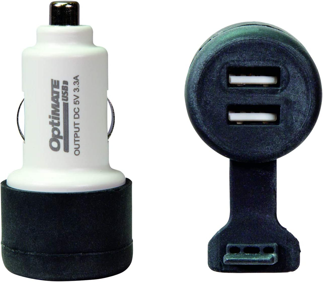 with AUTO plug. 3300mA dual output USB charger OptiMATE USB O-106