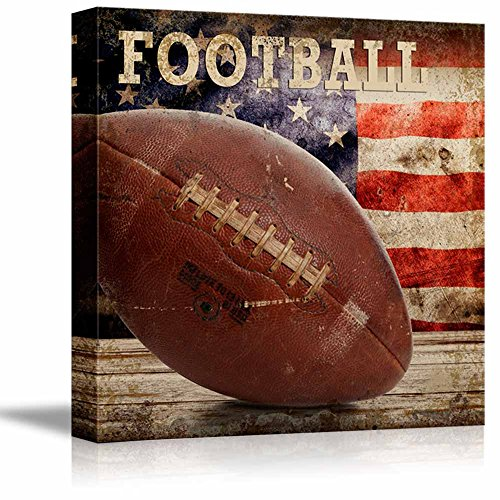 Rustic Football Football Vintage Wood Grain
