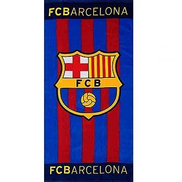 f9c0d850ebb5de DRAP DE PLAGE BAIN 70X140 100ù COTON FC BARCELONE  Amazon.fr ...