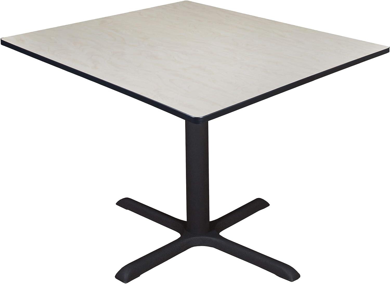 """Regency Cali Square Breakroom Table, 48"""", Light Maple"""