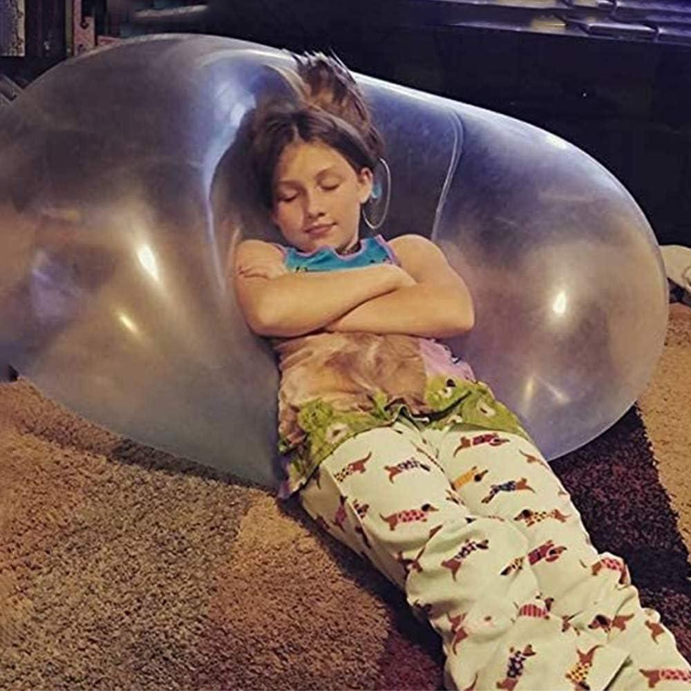 Ballon de Rebond Transparent pour Enfants Adulte Jeu int/érieur ext/érieur Boule de Bulle ext/érieure Ballon de Bulle deau Gonflable Dr/ôle Jouet Boule deau Boule de Jardin de Plage