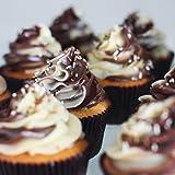 MZCH Non-stick 4 Cups Muffin Pan Cupcake Mold, Mini Tart Pie Pan, Black