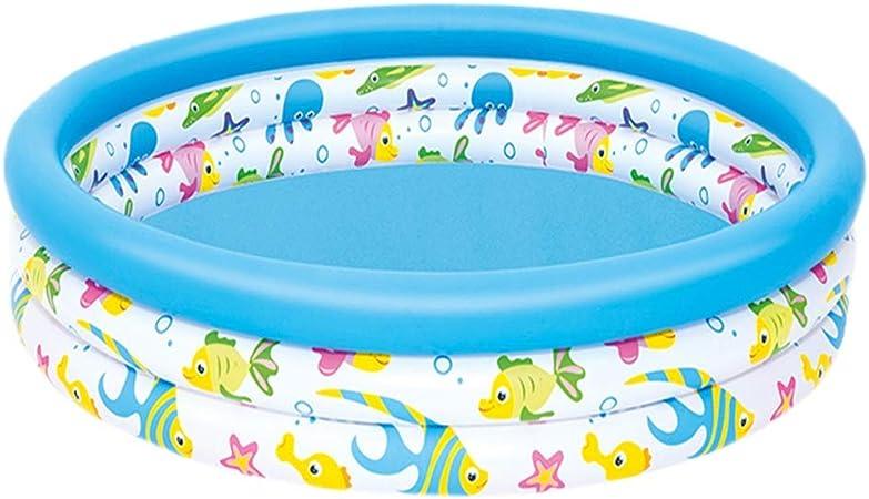 Ryg Piscinas para niños Bañera Inflable, Bañera para niños Piscina de Pesca Plegable Piscina para bebés Piscina Redonda del océano Piscina Piscina Jardin (Size : 122cm*25cm): Amazon.es: Hogar