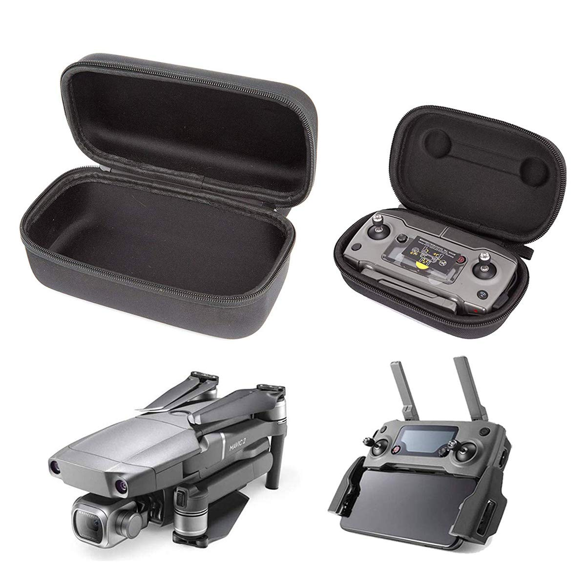 Carrying Case for DJI Mavic 2 Pro, Zoom, Foldable Drone Body and Remote Controller Transmitter Bag Accessory