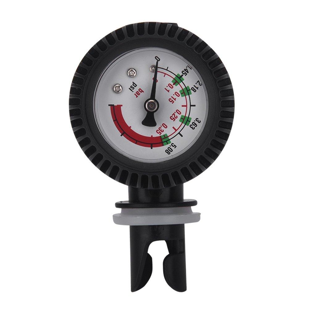 Kayaking Air Pressure Gauge 0-5.08 PSI Barometer for Inflatable Boat SUP Board Raft