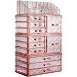 ZHIAI Cosmetic Jewelry Organizer Makeup Holder - Acrylic Interlocking Drawers to Create Your Own Specially Designed…